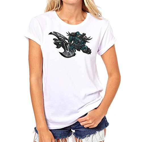 League Of Legends Champion Character Art Miss Fortune Skin Background Damen  T-Shirt Weiß
