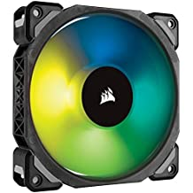 Corsair 120 mm Premium Magnetic Levitation RGB LED Fan - Black (Renewed)