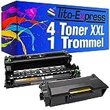 Tito-Express PlatinumSerie 1 Trommel & 4 Toner für Brother DR-3400 TN-3480 L5500DN L6600DW L5000D L5100DN L5100DNT L5100DNTT L5200DW L6250DN L6300DW L6400DW L6400DWTT L5700DN L5750DW L6800DW