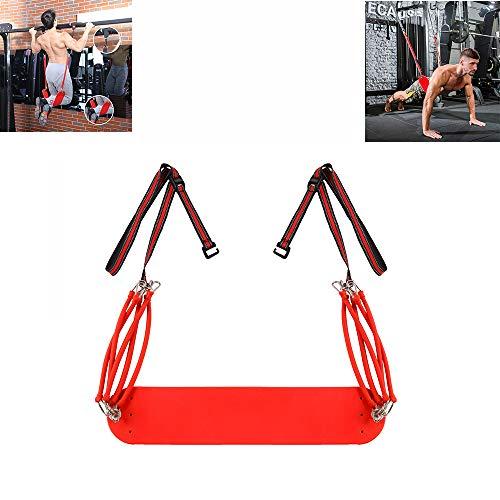 YUSDP Body Weight Fitness Resistance Trainer Kit - Mit PU-Fußpedal - 10 elastische Seildesigns, langlebige Sicherheit für Ganzkörpertraining - für das Fitnessstudio zu Hause (Riemen Suspension Training)