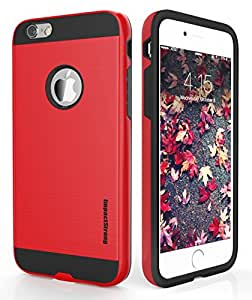 iPhone 6 Plus/6S Plus Case, ImpactStrong® Slim Defender Double Layer Shock Absorbing Tough Cover with Bumper | Best IPHONE 6 PLUS / 6S PLUS CASE for 5.5 inch Screen - Red