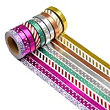K-LIMIT 10er Set Washi Tape Dekoband Masking Tape Klebeband Scrapbooking DIY Weihnachten Christmas 5mm Breite 6191a