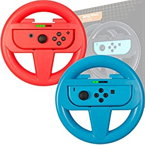 Orzly STEERING WHEEL PACK for NINTENDO SWITCH JOY-CONS (Please Select and Add to Cart Below…)