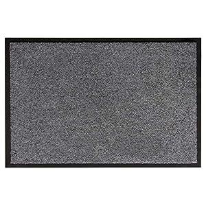 andiamo Schmutzfangmatte Fußabtreter Türmatte Fußmatte Sauberlaufmatte Schmutzabstreifer Türvorleger - Eingangsbereich In/Outdoor - rutschhemmend waschbar grau Polypropylen- 60x90 cm - 5 mm Höhe