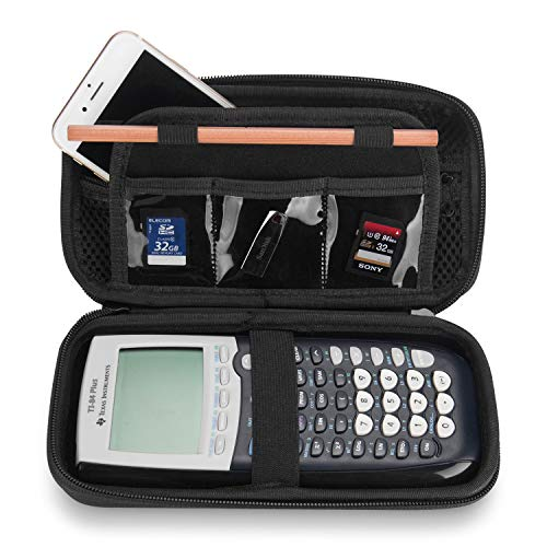 ProCase Texas Instruments Ti 84 plus Calculator Custodia Rigida, Borsa da Viaggio Durevole Cover Protettiva per Ti-84 Ti-83 Ti-85 Ti-89 Ti-82 Plus/C Graphing Calculator e Altro Ancora -Nero