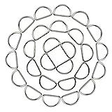 hysagtek schwere 50x 2,5cm Metall D Ring Schnallen für Halsbänder Handtaschen Gurte Yoga Gürtel Geschirr