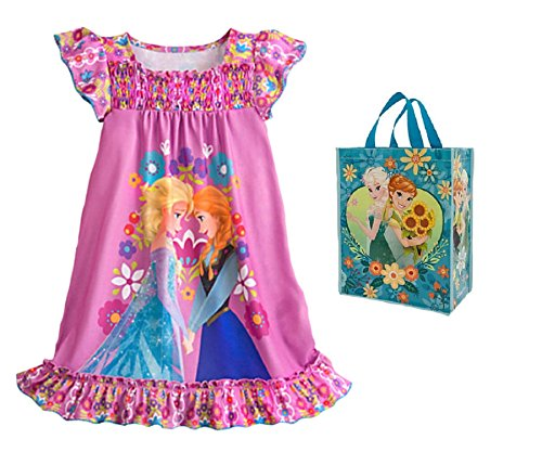 Disney Gefrorene gro?e M?dchen Anna & ELSA Night Shirt & Tote - 2 St¡§?ck Geschenkset (klein) (Anna Gefrorene Schuhe)
