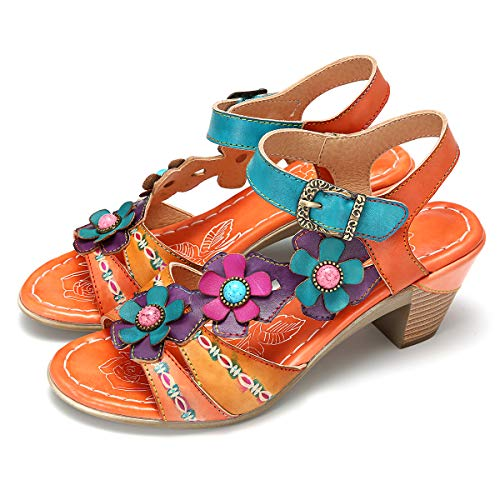gracosy Damen Mary Jane Pumps Leder Sommerschuhe Bunte Schuhe mit Absatz 2019 Elegant Sommer Sandalen Party Schuhe Damen Sommer - Mary Jane Schuh-block-ferse