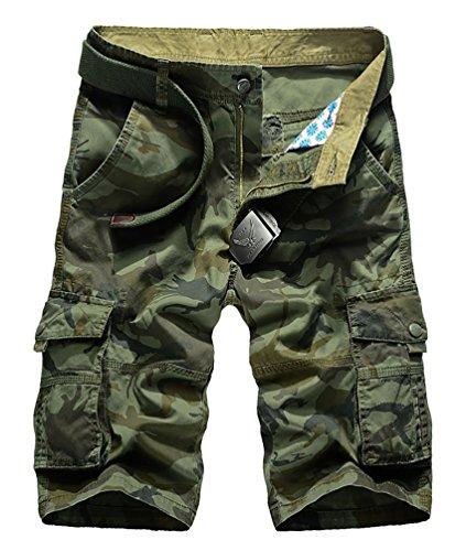 CeRui Cargo Pantaloncini Vintage Da Uomo Stile Militare Pantaloni Carhartt Cargo Taglia 40 Army Green