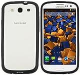 mumbi Hülle für Samsung Galaxy S3 i9300 / S3 Neo Schutzhülle (Rückseite mit Protector Milchglaseffekt)