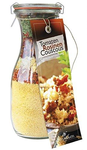 Fantastische Fertigmischung für Tomaten Rosinen Couscous – Raffinierte Rezeptideen im Glas für leckere Gerichte – Gourmet Gemüsecouscous einfach kochen oder verschenken –