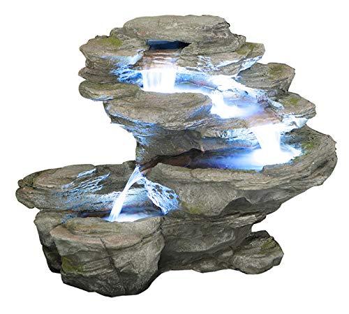 Cascade Chute d'Eau Ogen 4 Niveaux avec Éclairage LED