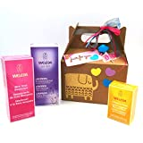 Geschenk-Set Weleda I LOVE YOU | Mit drei Weleda Produkte BIO 100% natürliche | Romantische Geschenk-Ideen für Frauen | Geschenk-Version für denTag der Mutter!