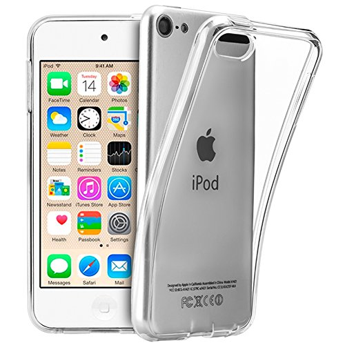 TopACE® TPU Hülle Schutzhülle Crystal Case Durchsichtig Klar Silikon transparent für Apple iPod touch 6/7 2019 (6.7Generation) (Clear) - Apple Ipod Touch Cases