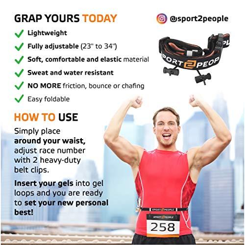 Zoom IMG-3 sport2people portanumero cintura con gel
