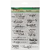 Penny Black Rubber Clear Stamps 5-inch x 6.5-inch Sheet-Heartfelt