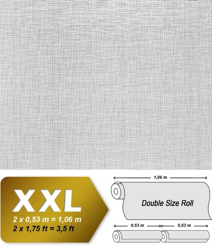 Struktur Vliestapete Streichbar EDEM 350-60 GROSSROLLE zum Überstreichen dekorative Struktur tapete weiss   26,50 qm - 3