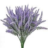 StillCool künstliche Blumen purpurrote Lavendel Blumenstrauß Arrangements Braut Ausgangs DIY Fußboden Garten Büro Hochzeits Dekor (Lila Lavendel) 4pcs