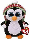 Ty Beanie Boo's Penelope, pingüino Navidad, 40 cm (United Labels...