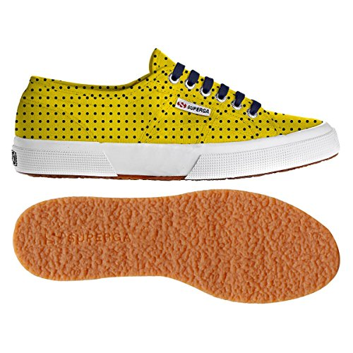 Superga - 2750 Fantasy Cotu, Sneaker Donna Pois Sunflower-Navy