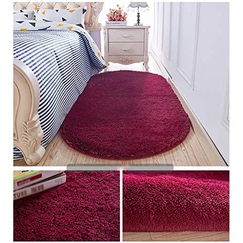 Teppich weiche Teppiche Teppiche Wohnzimmer Teppich, Badematte, Haus, Wohnzimmer, Schlafzimmer, Foyer, Küche Soft Touch Shaggy (Color : Wine red, Size : 200×300cm) -
