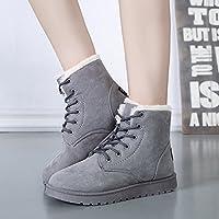 BTJC Tubo corto di studente di inverno isolati stivali neve stivali donna stivaletti cuciti con scarpe onda coreana , gray , 40 - Tubo Extender Kit