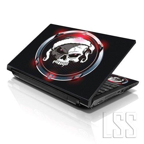 """LSS 15 15.6 Pollici Laptop Notebook Skin Cover adesiva Decal Adatta per 13.3"""" 14"""" 15.6"""" 16"""" HP Dell Lenovo Apple Asus Acer Compaq (2 adesivi sotto polsi inclusi gartuitamente) Circle Skull"""