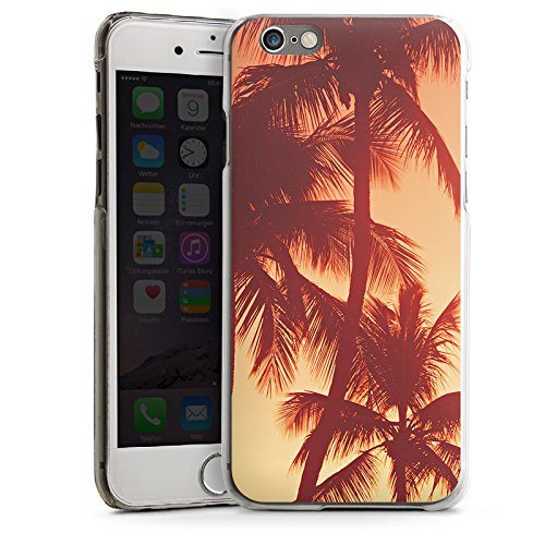 Apple iPhone 5 Housse étui coque protection Palmiers Soleil couchant Vacances CasDur transparent