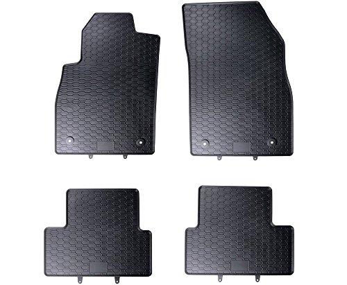 Mossa Alfombrillas de goma - 4-piezas - un ajuste perfecto - negro - 5902538448291