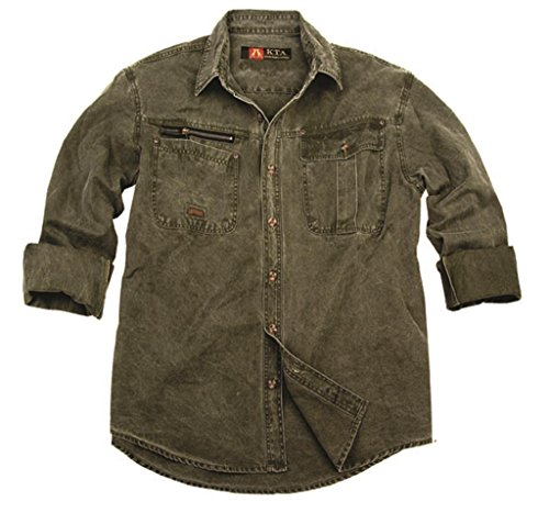 robustes Outdoor Herrenhemd Overshirt in braun, mustard, khaki und blau, Langarm- Shirt Senf