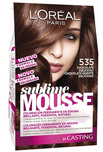 L'Oréal Paris Sublime Mousse Coloración Permanente, Tono: 535 Chocolate Delicioso - 140 ml
