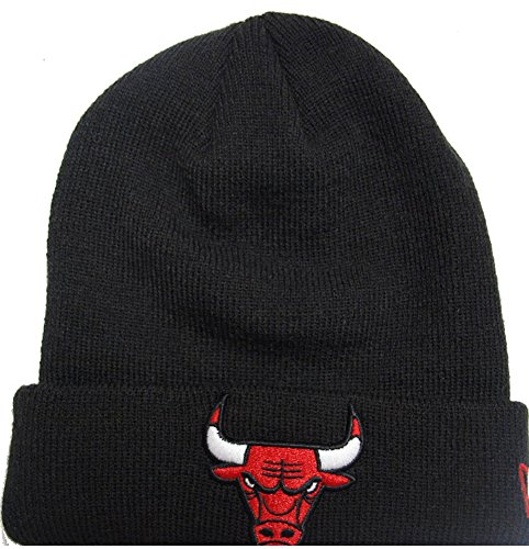 New Era Chicago Bulls Infant Team Essential Cuff Beanie Mütze, black, Infant (Beanie Team-baby)