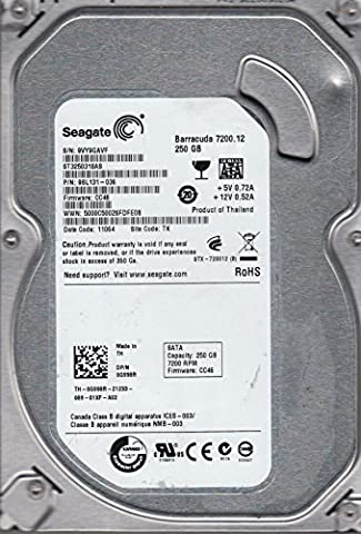 ST3250318AS, 9VY, TK, PN 9SL131-036, FW CC46, Seagate 250GB SATA 3.5 Hard Drive