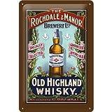 Nostalgic-Art 20241 Bier und Spirituosen Old Highland Whiskey Blechschild, 20 x 30 cm