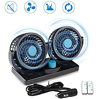 MAXTUF Car fan 12V Electric Auto Cooling Fan, Low Noise 360