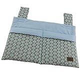 Bettutensilo, Wandutensilo, Betttasche mit 2 Taschen, Klettverschluß, 39x26cm, Blume blau mint  SmukkeDesign NEU