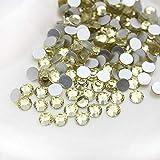 ASTONISH 1440pcs al por mayor/pack de uñas de cristal SS12 de diamantes de imitación del flatback no revisión para 3D Art Decoración de uñas de diamantes de imitación: junquillo