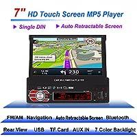 Radio para Coche universal, Auto Estéreo de 7 pulgadas con GPS Retráctil Automático, Cámara