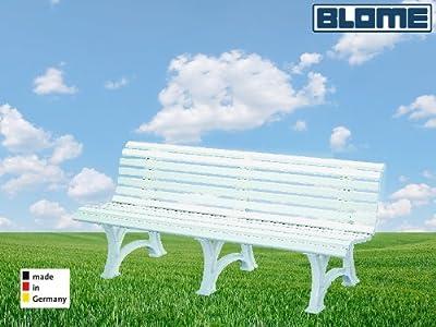 Parkbank Borkum weiß Blome 4-Sitzer