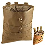 Gexgune Molle System Tactical Molle Dump Revista Bolsa Caza Recuperación Bolsa Caída Bolsa Accesorios Militares (Bronceado)