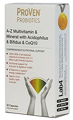 Proven Probiotics A-Z Multivitamin & Mineral With Probiotic & Coenzyme Q10 (2 x Packs of 30 Capsules) from PROVEN PROBIOTICS