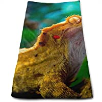 ewtretr Toallas De Mano,Reptile Gecko Lizard Amazing Unique Microfiber Beach Towel Large 11.8