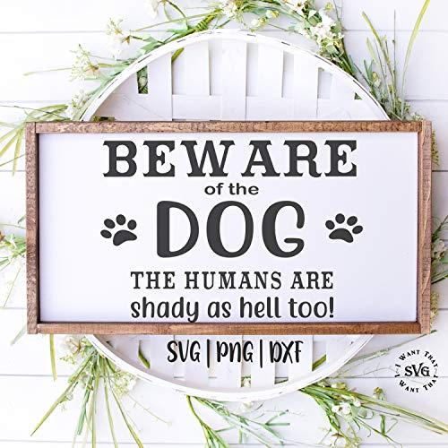Miiyu6Bird Vorsicht von Hund SVG Vorsicht SVG Hund Schild SVG Dog Sign SVG No Soliciting SVG Warning SVG No Trespassing SVG Wood Sign SVG Vinyl Decal SVG, 20cm*29cm -