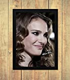 Star Prints Natalie Portman 1 - High Gloss Personalised Printed Poster - A4 (210 x 297 mm) Framed