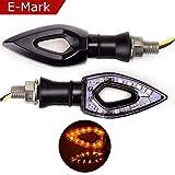 Evermotor Universal Motorrad LED Blinker Arrow E-MARK E-geprüft Wasserdicht 1