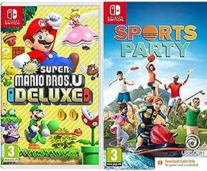 New Super Mario Bros. U Deluxe (Nintendo Switch) & Sports Party (Code in Box) (Nintendo Switch)