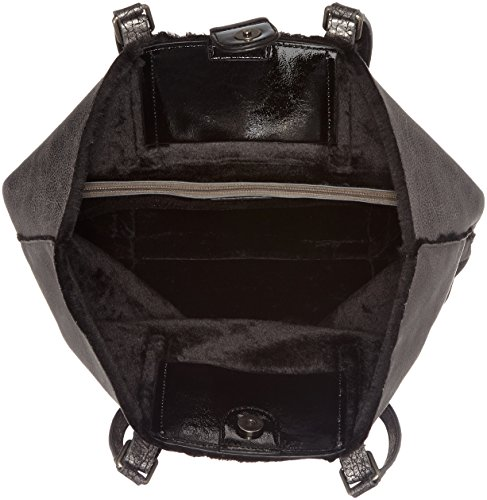 Tamaris - Amber Shopping Bag, Borsa Donna Grigio (Graphite Comb.)