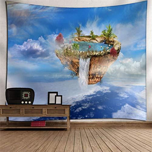 Rjjdd Liebe Herz Gedruckt Große Tapisserie Wandbehang Wandteppiche Boho Tagesdecke Yoga Matte Decke Home Wall Art Decor Hängen Stadt Zuhause Dekor(150X130Cm)