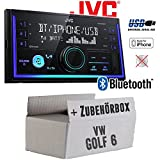 VW Golf 6 VI - Autoradio Radio JVC KW-X830BT - Bluetooth MP3 USB - Einbauzubehör - Einbauset