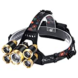 HUAXING Ultra Bright LED Head Headlamp 150 Lumens, 4Lighting Modes, White & Red LEDs Headlamps, Adjustable Strap, IPX6 Water Resistant. Ideal für Laufen, Camping, Wandern & mehr. Batterien inklusive